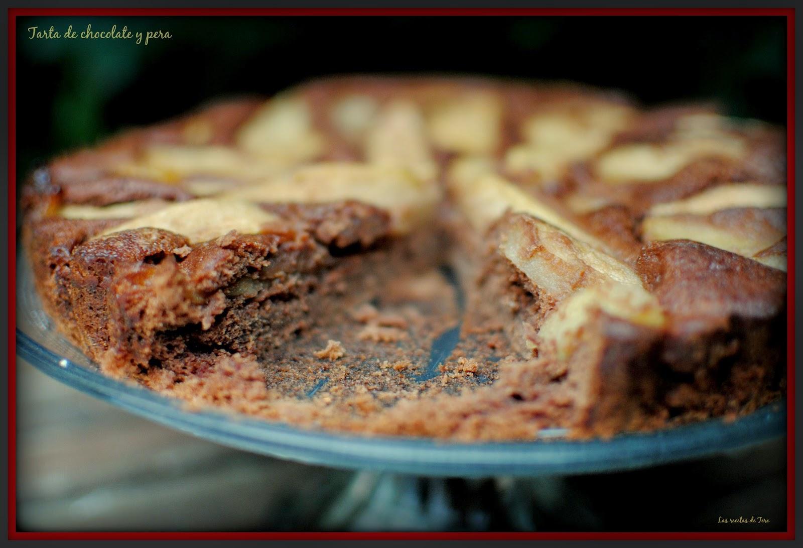 tarta de chocolate y pera tererecetas 06
