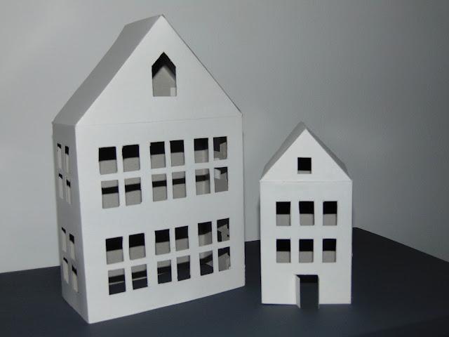 latarenki domki z papieru zrób to sam