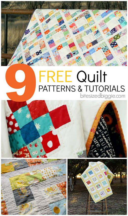 9 free patterns and tutorials for gorgeous and easy to assemble charm square quilts!