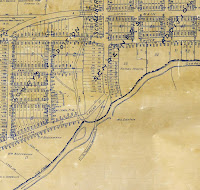 Detail, 1934 map of Kerrville, Texas