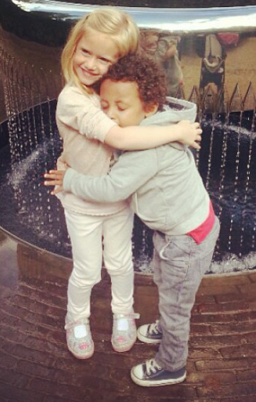 Cute…Obafemi Martins' 3 year old son is in love (Photo )