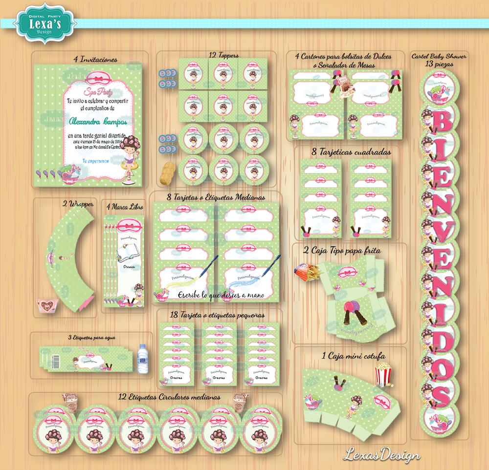 Kit imprimibles para fiestas Spa gratis