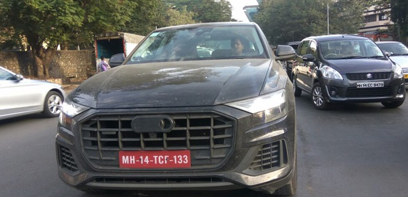 Audi Q8 spotted in india