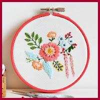 Bouquet floral para bordar
