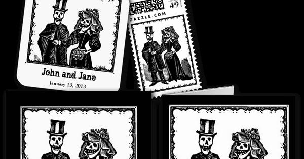 Wedding Cards and Gifts: Skeleton Couple Wedding Invitation