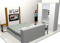 Furniture Kamar Tidur Set Warna Putih - Bedroom Furniture Interior Furniture Semarang