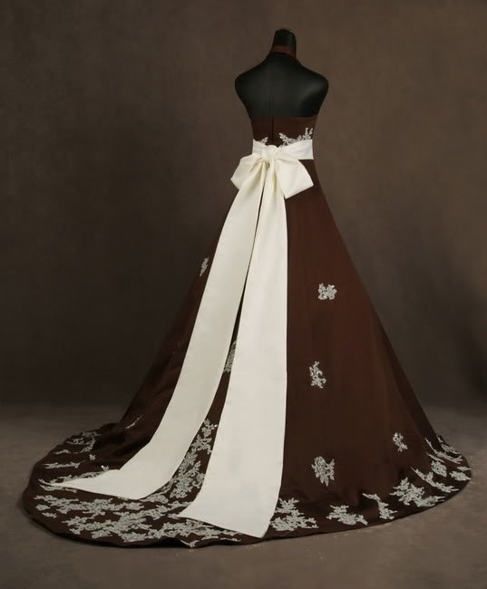 Nothing But Beauty: Colorful Wedding Dresses BROWN