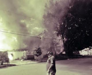 Iretama: Residência é destruída pelo fogo na tarde desta quinta