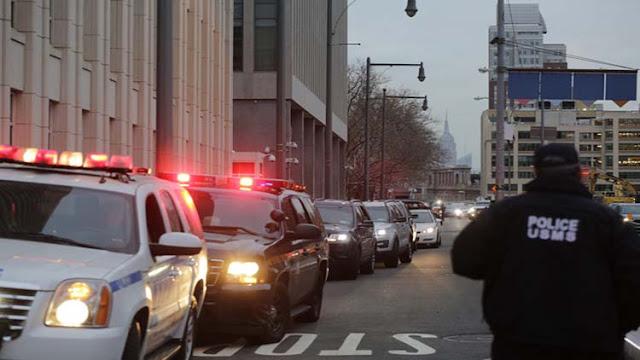 El Chapo es escoltado por una decena de vehículos blindados cuando va al tribunal, juicio durara 4 meses