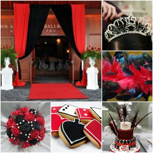 Casino Night Sweet Fifteen Quinceanera Theme Quince Candles