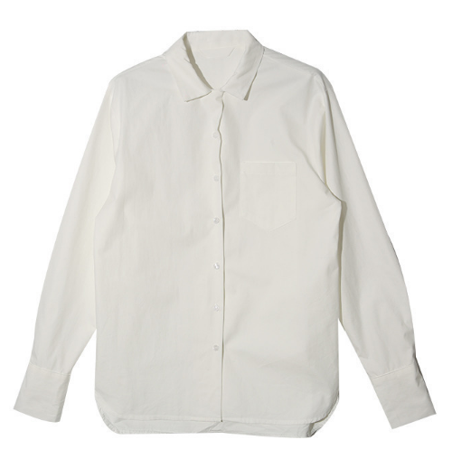 Extended Sleeve Button-Down Shirt