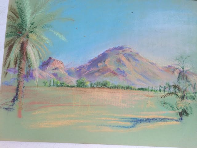 Image of Camelback Mountain in Pastel by Francis J. Quirk Phoenix, Arizona