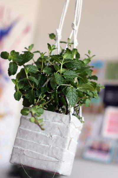 Gunakan karton kotak susu bekas untuk membuat pot bunga gantung