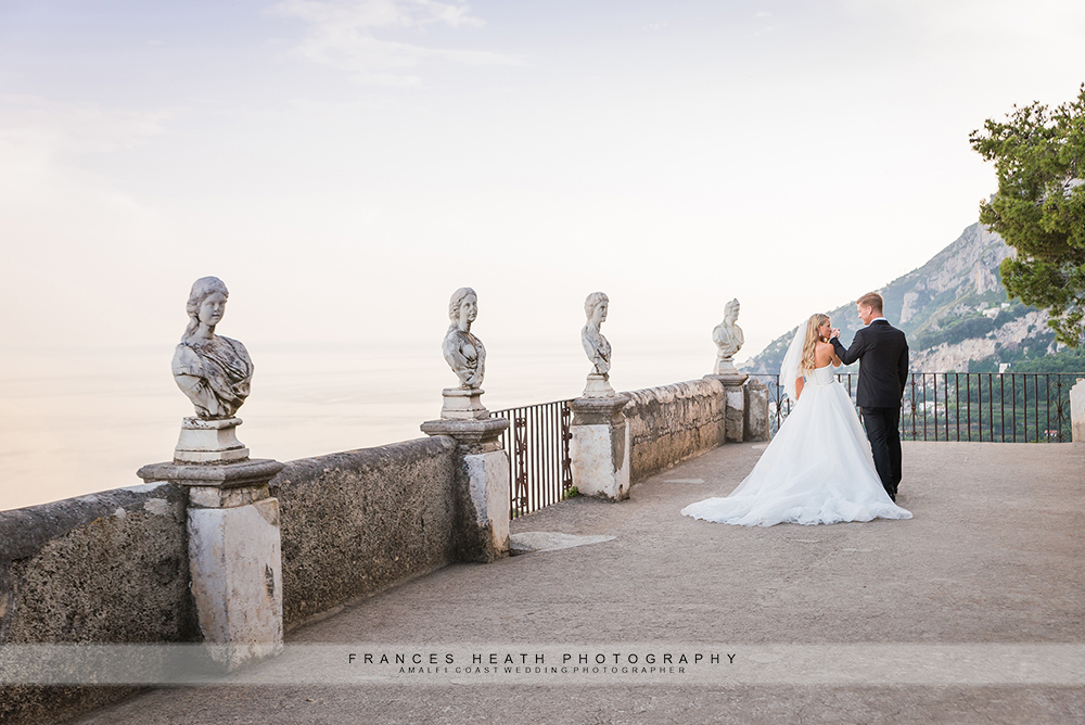 Wedding portraits at Villa Cimbrone