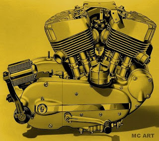 harley davidson k model engine picture 1952