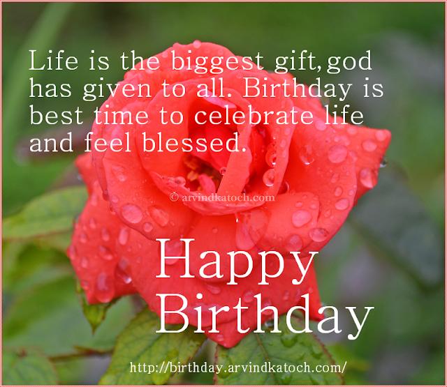 Biggest Gift, God, celebrate, life, Birthday card, Happy birthday,