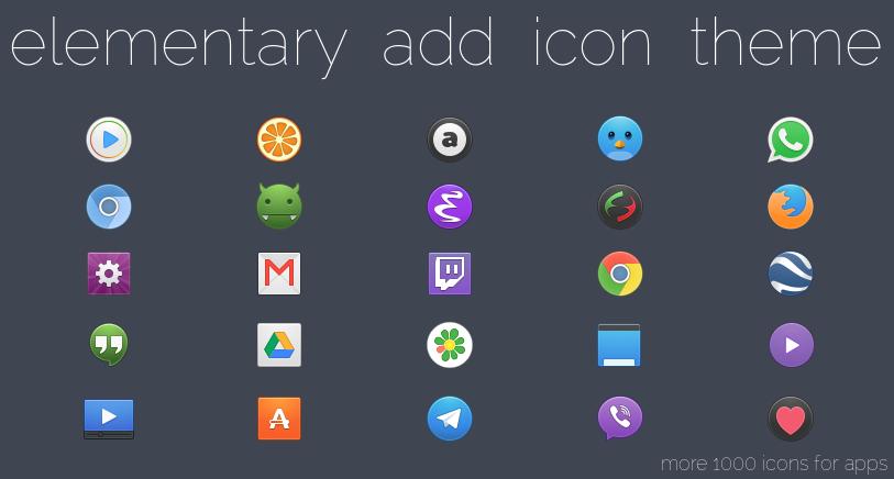 Add elementary Add (icon theme) on Your Ubuntu Desktop