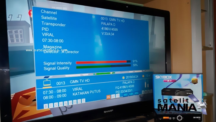 Tampilan menu baru skybox a1 dengan  firmware icone