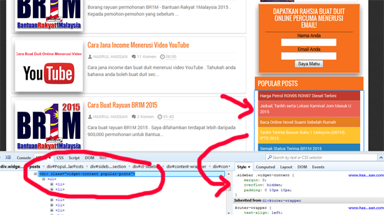 Cara buat customization template blogspot mudah