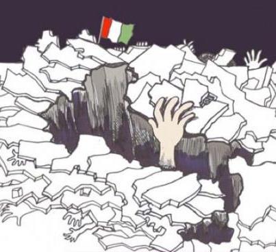 ITALIANI VI RICORDATE COME SI STAVA PEGGIO COME VI HANNO INCULCATO QUESTI SCIACALLI.E COME STAREMO DOMANI VISTO IL TRACOLLO ITALIA VOLUTO DA QUESTI INCOSCIENTI INCOMPETENTI.