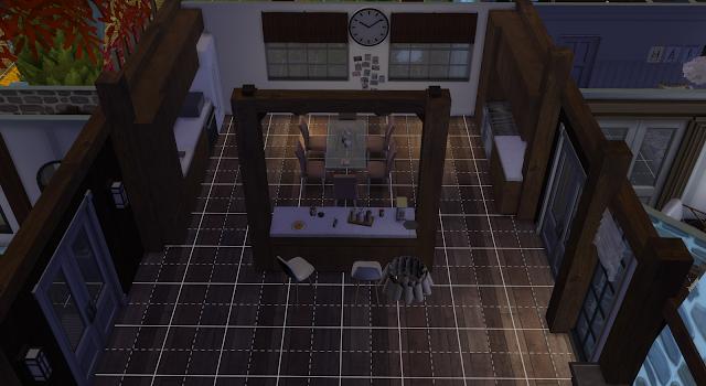 cocina de una casa en los sims 4