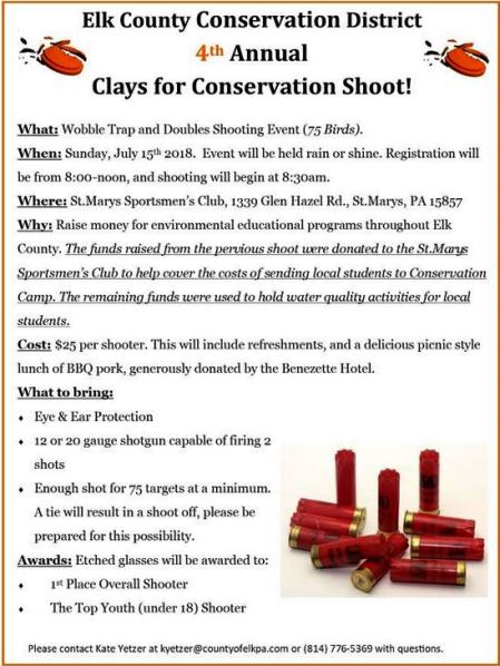 7-15 Clays For Conservation Shoot