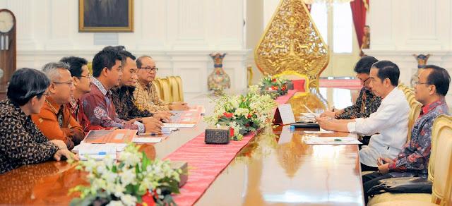 KPU Menghadap Presiden Jokowi