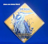 blue heron crossing sign