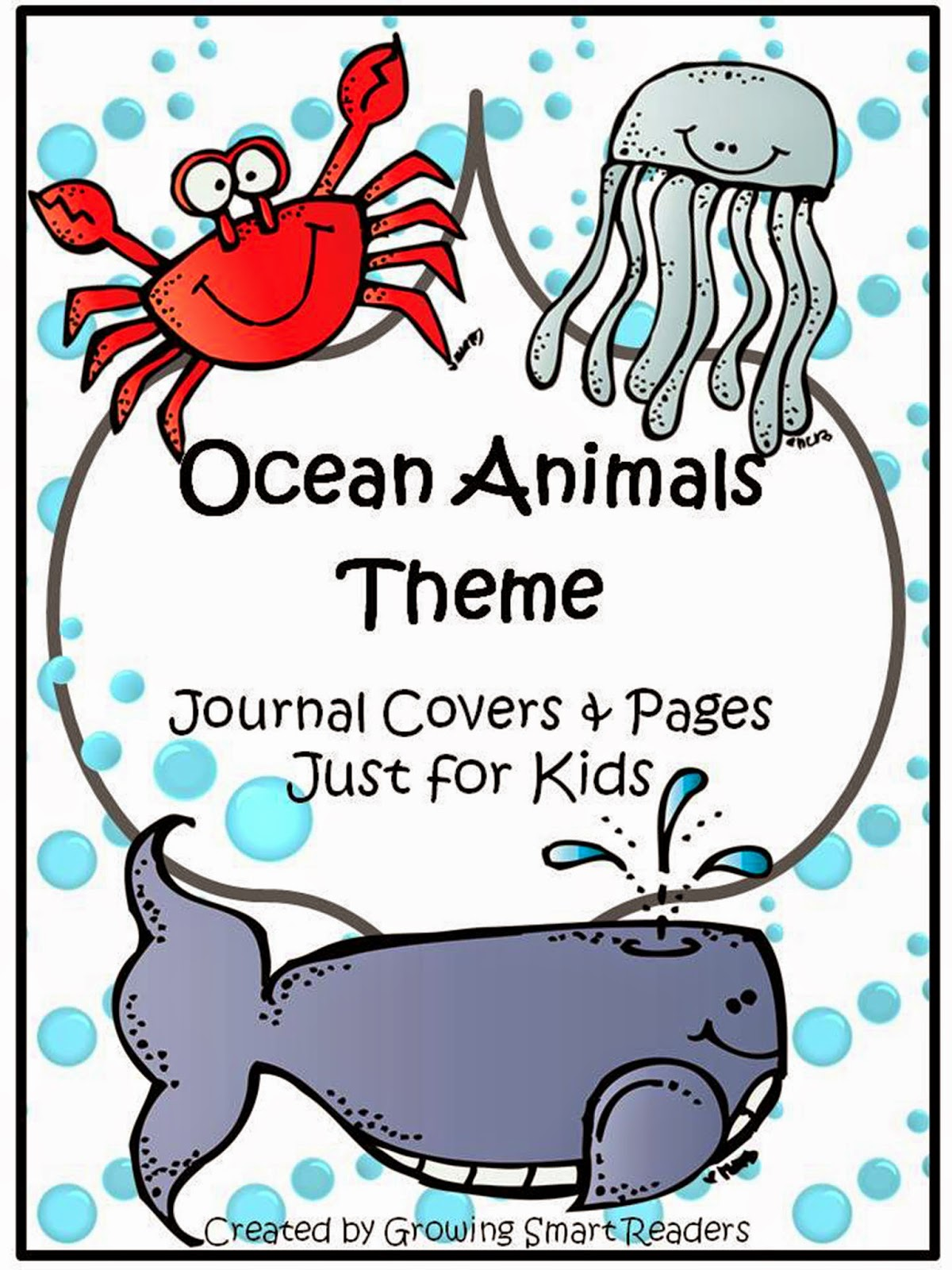 Growing Smart Readers Ocean Animals Themed Journal Covers