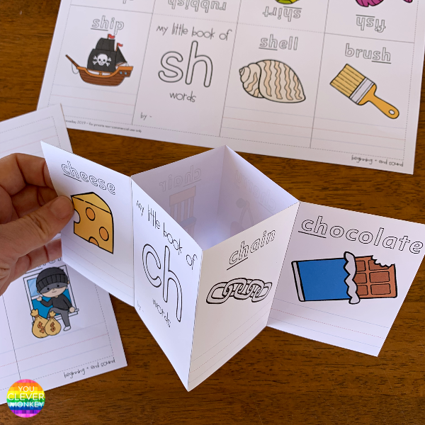 Digraph CH/SH/TH Mini Books To Make | you clever monkey