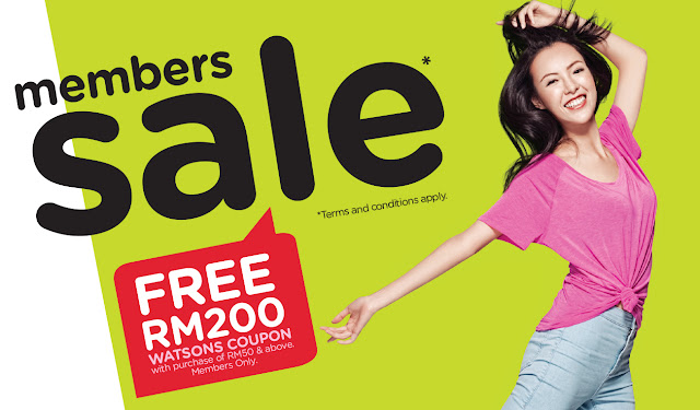 Watsons Member Card Sale Discount Offer Promo