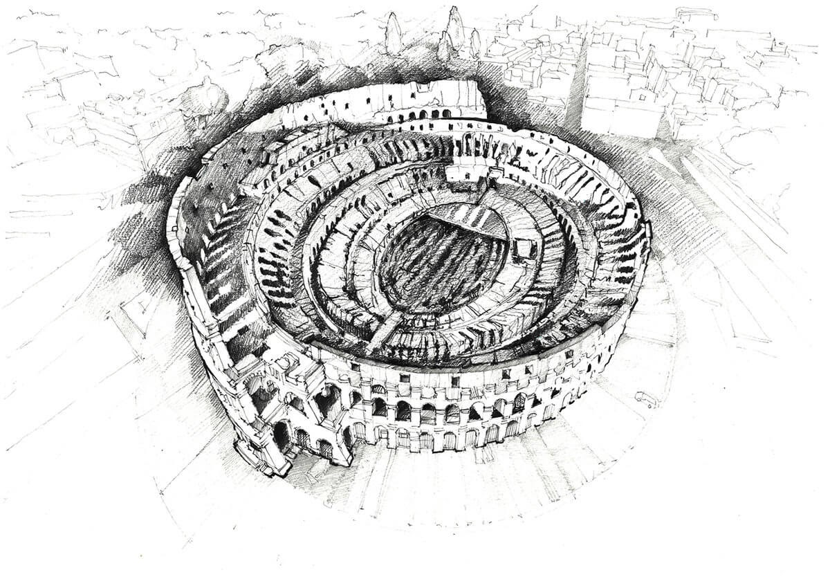 05-Colosseum-Rome-Italy-Adelina-Popescu-Architecture-Drawings-and-Interior-Design-www-designstack-co