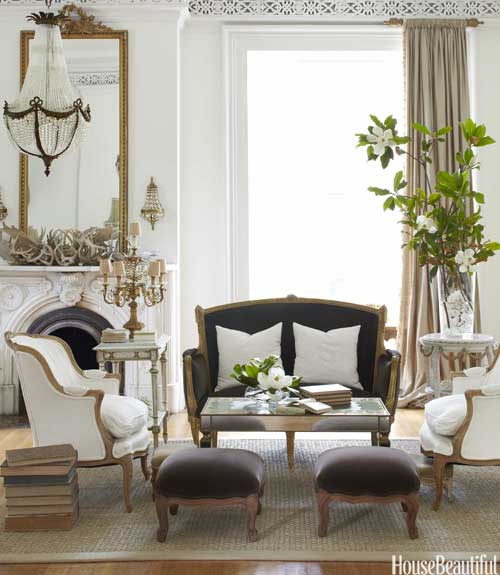 Beautiful interior design from Annie Brahler of Eurotrash - found on Hello Lovely Studio