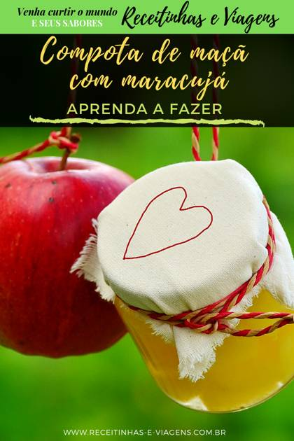 Receita de compota de maçã com maracujá