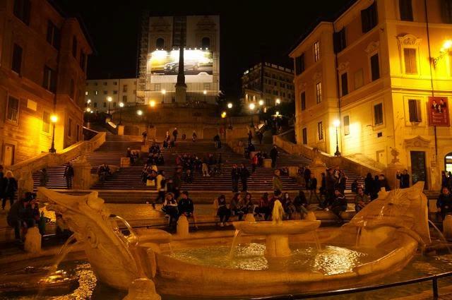 piazza spagna roma noche