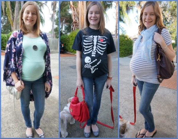 AwayFromBlue: Jeanswest maternity skinny jeans outfit ideas 3 ways