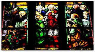 Vitrais da Igreja, Arroio do Meio, RS - Jesus e Os Discípulos