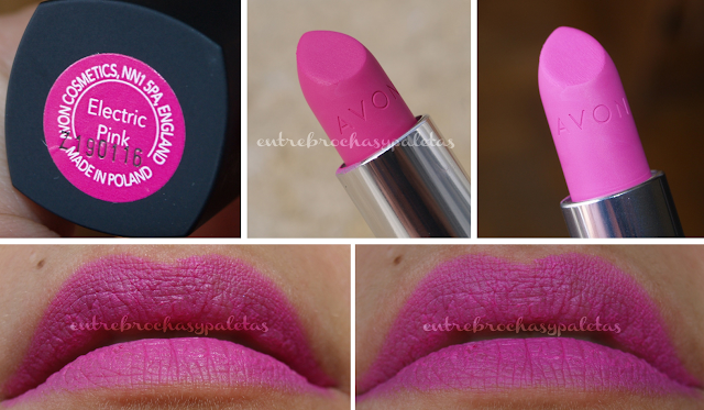 electric pink labiales mate avon