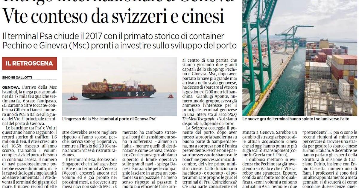 Alassiofutura genova porto intrigo internazionale a for Diretta da montecitorio