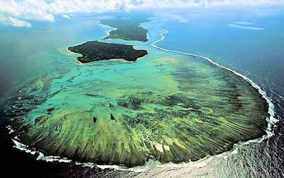 Vue aérienne de Sainte-Marie et île aux Nattes Madagascar