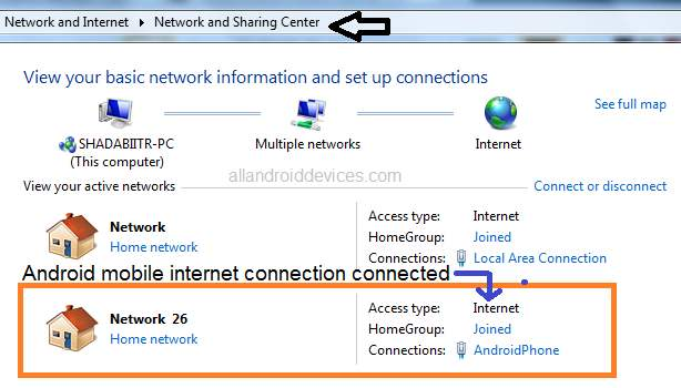 android internet connect on pc