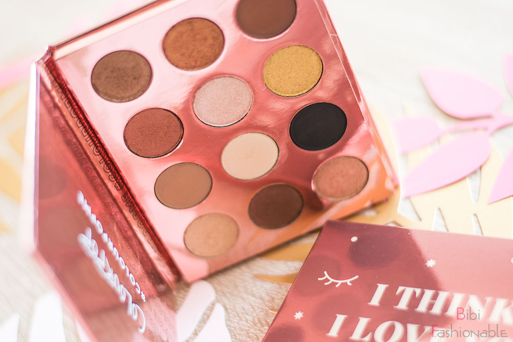 ColourPop I think I love you Pressed Shadow Palette stehend offen