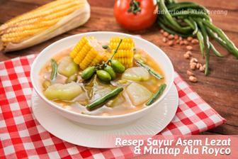 Resep Sayur Asem Lezat dan Mantap Ala Royco
