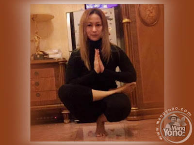 Foto Inul D sedang melakukan yoga. Sumber foto instagram @inul.d