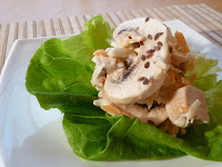 Salata de pui cu telina, morcov si ciuperci
