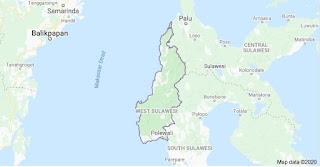 Peta provinsi Sulawesi Barat