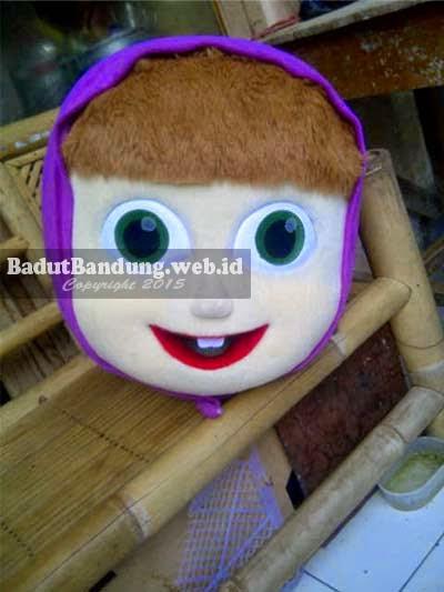 jual kepala badut masha and bear ungu besar