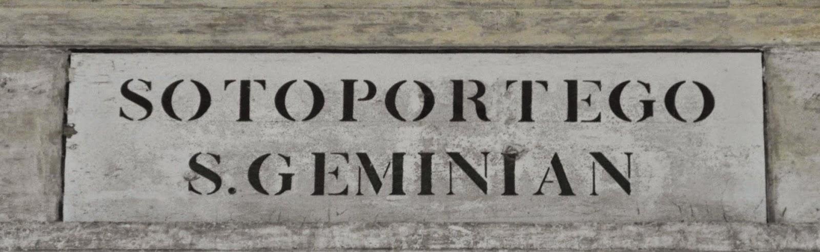 Sotoportego S. Geminian, Venice