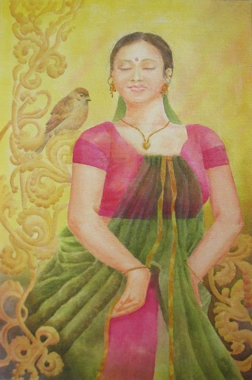 Indian beauty, figurative painting