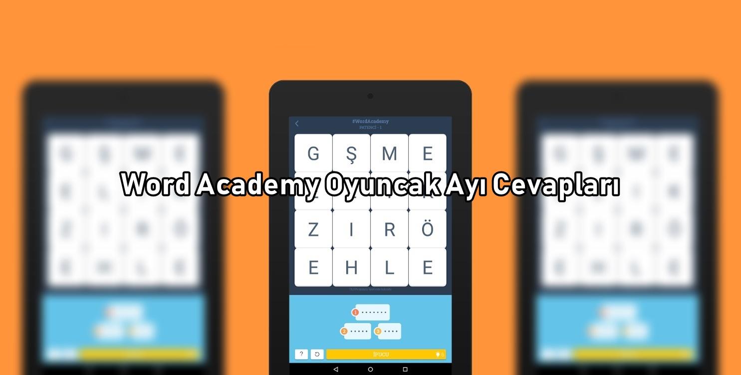 Word Academy Oyuncak Ayi Cevaplari